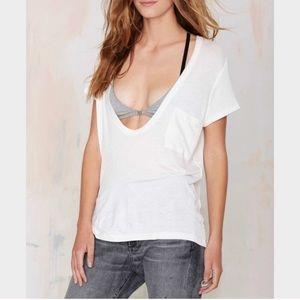 Nasty Gal Inside Scoop Pocket T Shirt